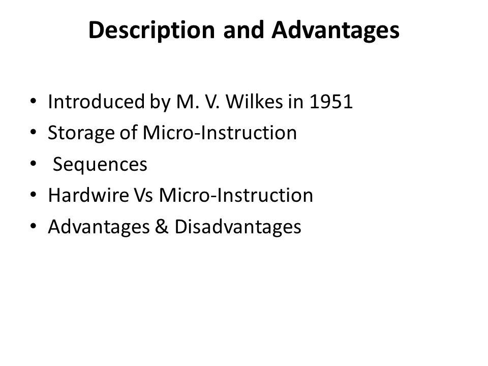 Description and Advantages