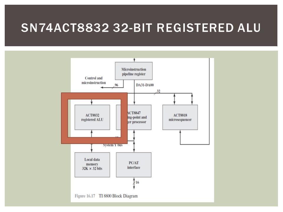 sn74act8832 32-bit registered ALU