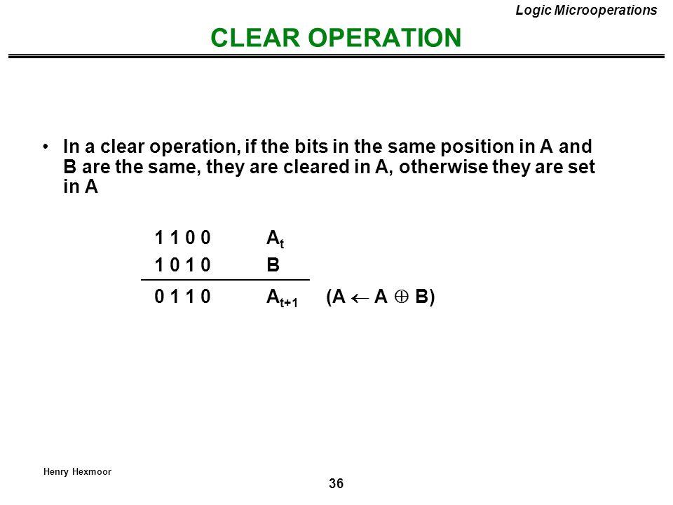 Logic Microoperations