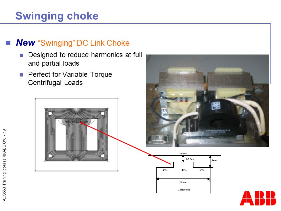 Swinging choke New Swinging DC Link Choke