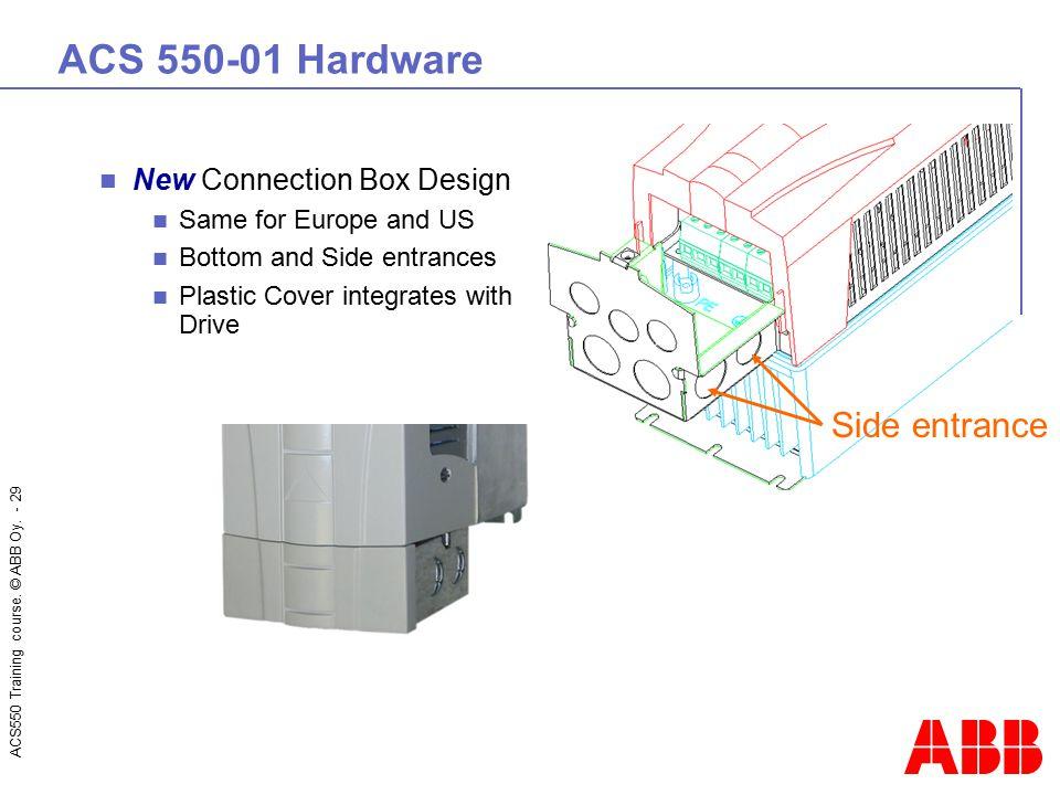 ACS 550-01 Hardware Side entrance New Connection Box Design