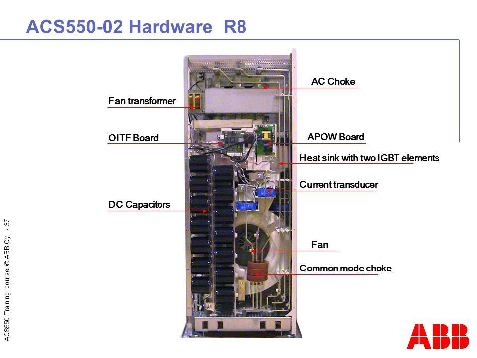 ACS550-02 Hardware R8 AC Choke Fan transformer OITF Board APOW Board