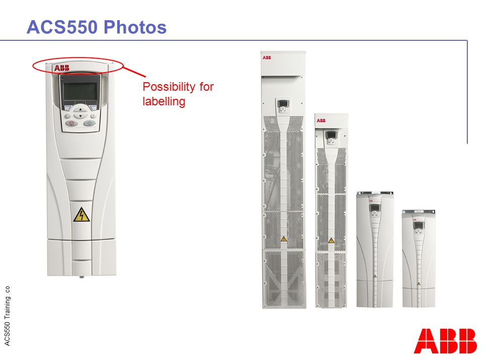 ACS550 Photos Possibility for labelling