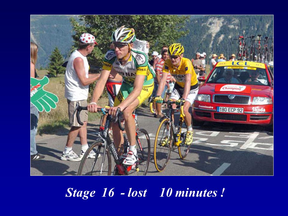 Stage 16 - lost 10 minutes !