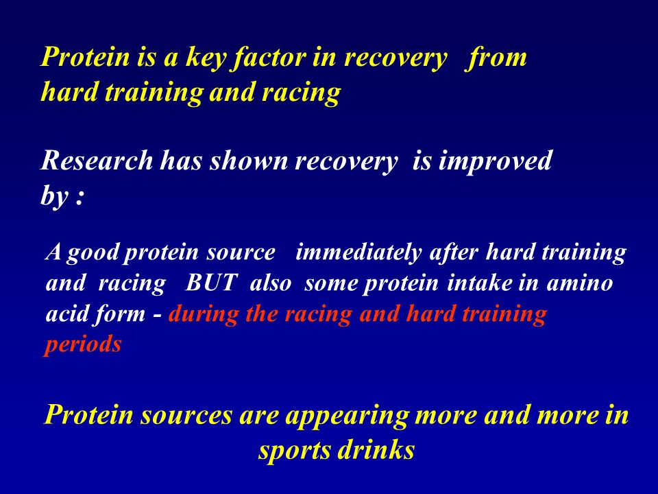 Protein sources are appearing more and more in sports drinks