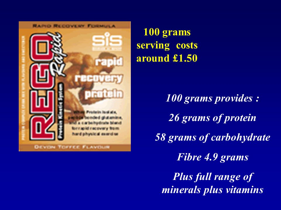100 grams serving costs around £1.50