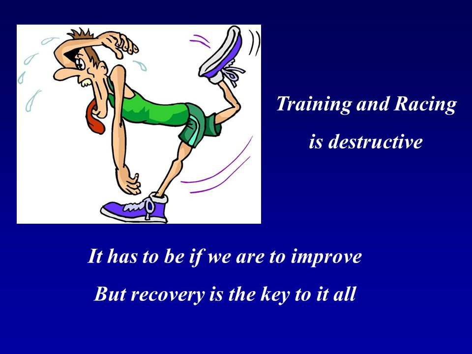 It has to be if we are to improve But recovery is the key to it all
