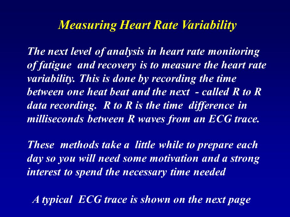 Measuring Heart Rate Variability