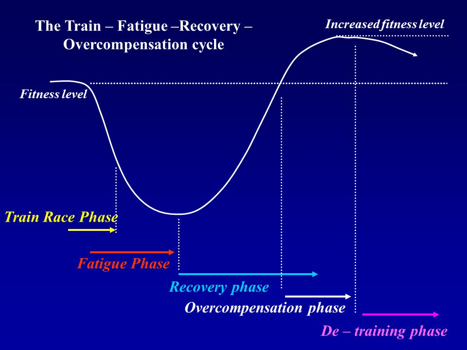 The Train – Fatigue –Recovery –Overcompensation cycle