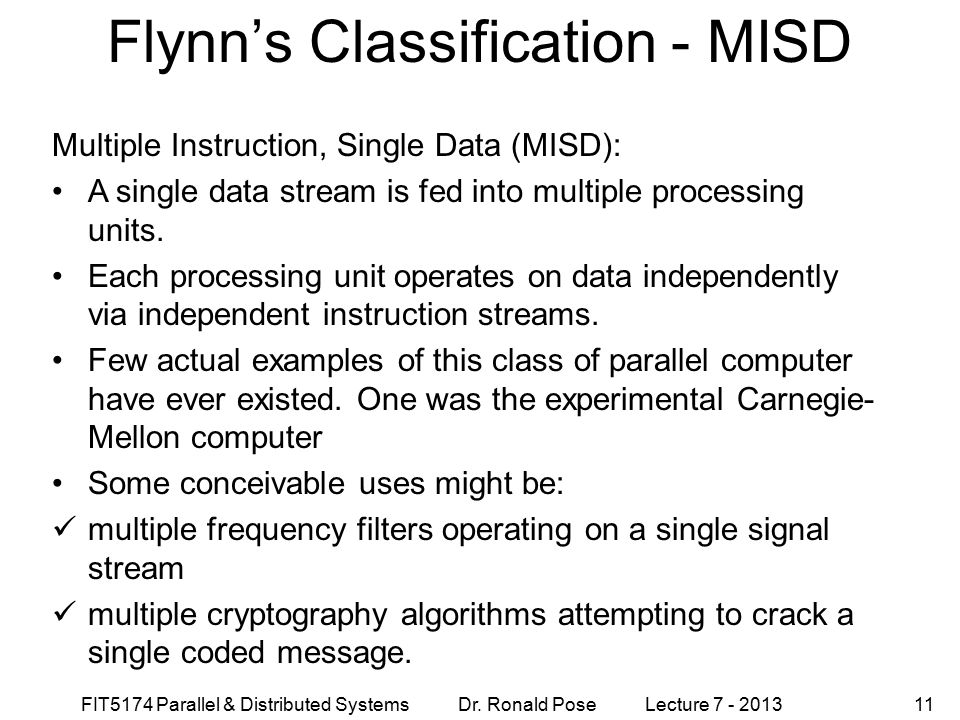 Flynn's Classification - MISD