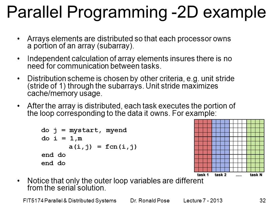 Parallel Programming -2D example