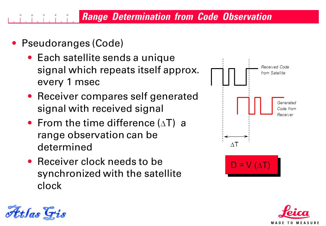 Range Determination from Code Observation