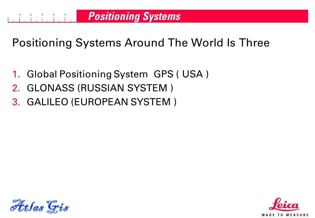 Atlas Gis Positioning Systems