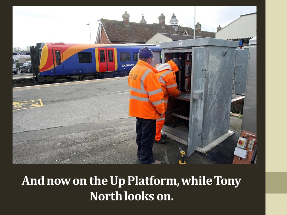 And now on the Up Platform, while Tony North looks on.