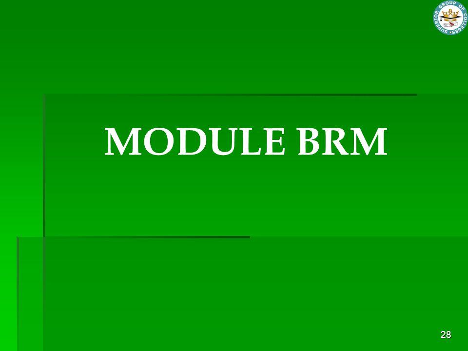 MODULE BRM