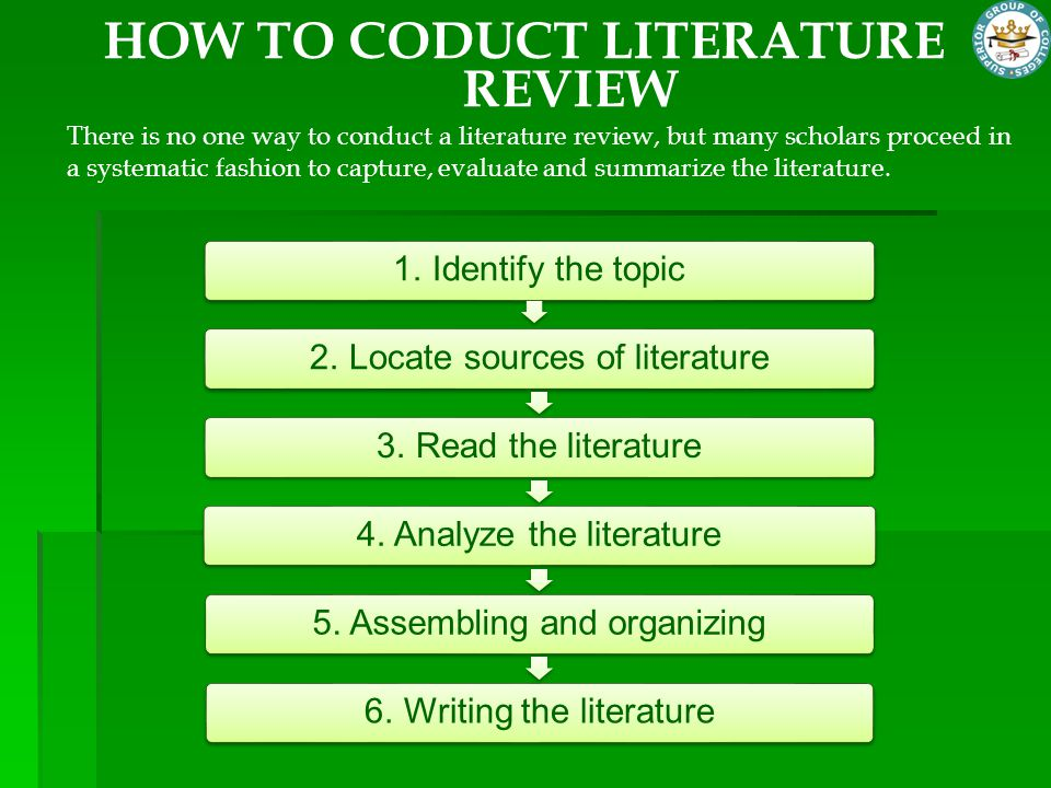 HOW TO CODUCT LITERATURE REVIEW