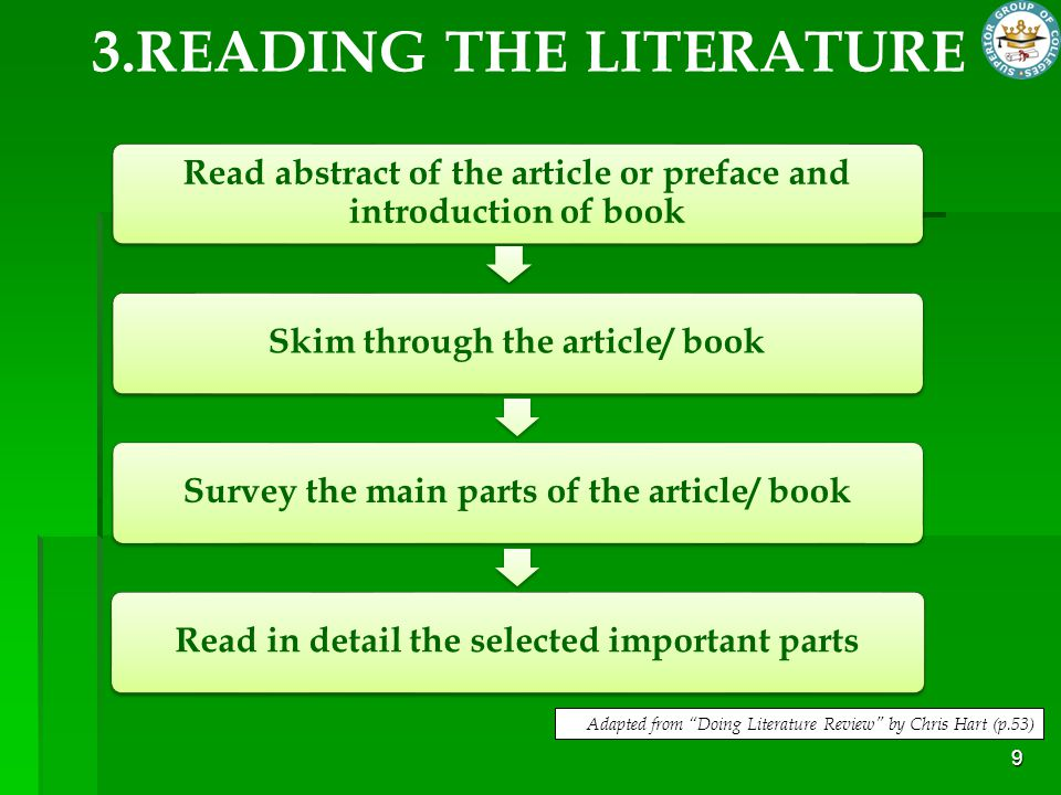 3.READING THE LITERATURE