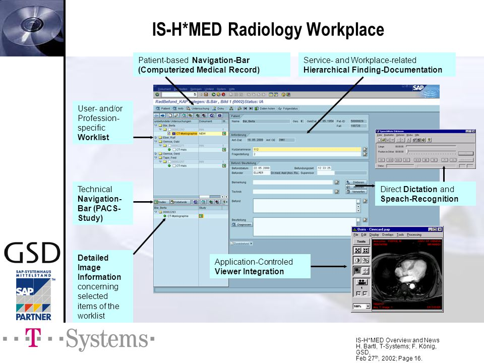 IS-H*MED Radiology Workplace