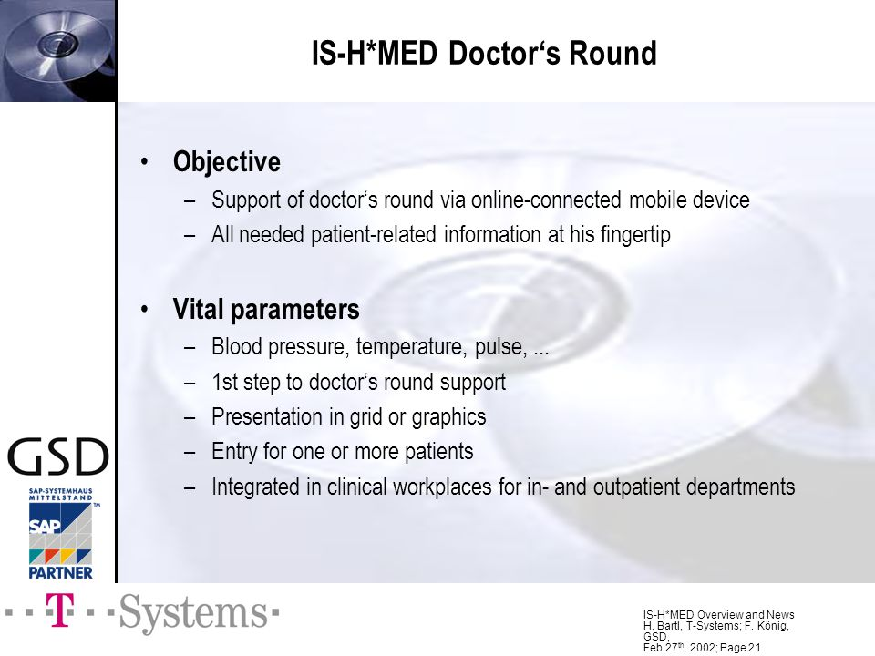 IS-H*MED Doctor's Round