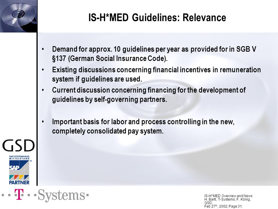IS-H*MED Guidelines: Relevance