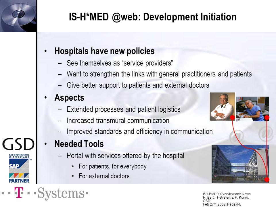 IS-H*MED @web: Development Initiation