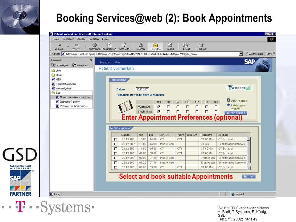 Booking Services@web (2): Book Appointments