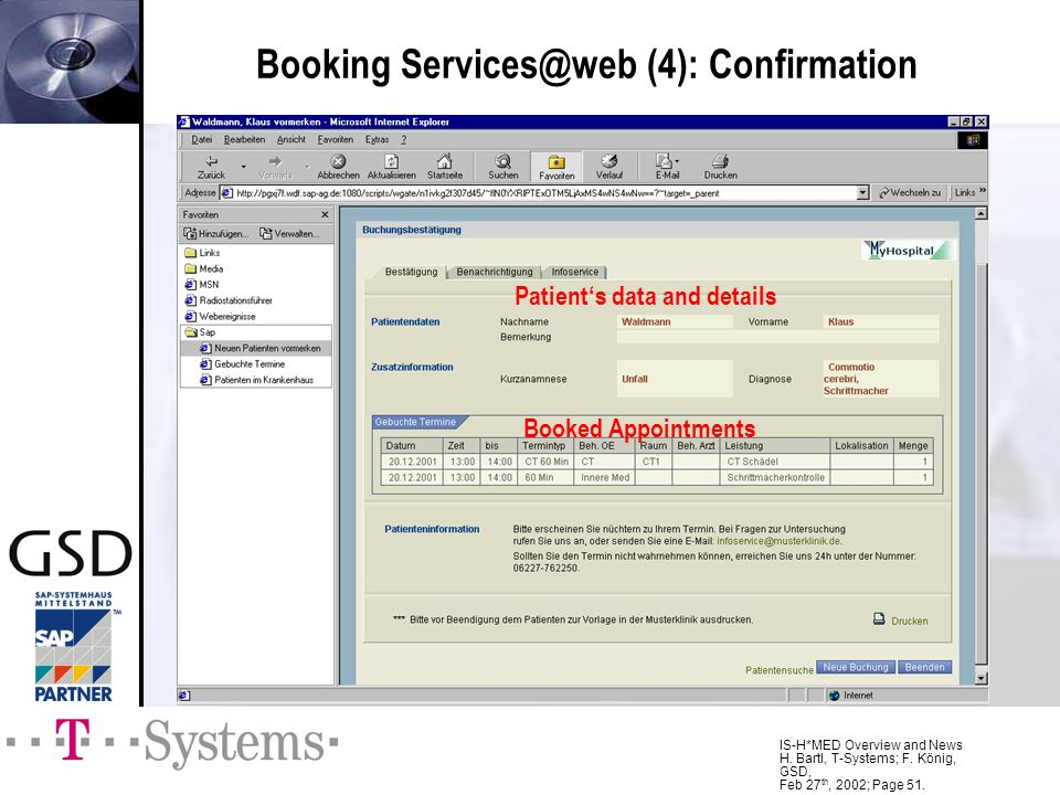 Booking Services@web (4): Confirmation