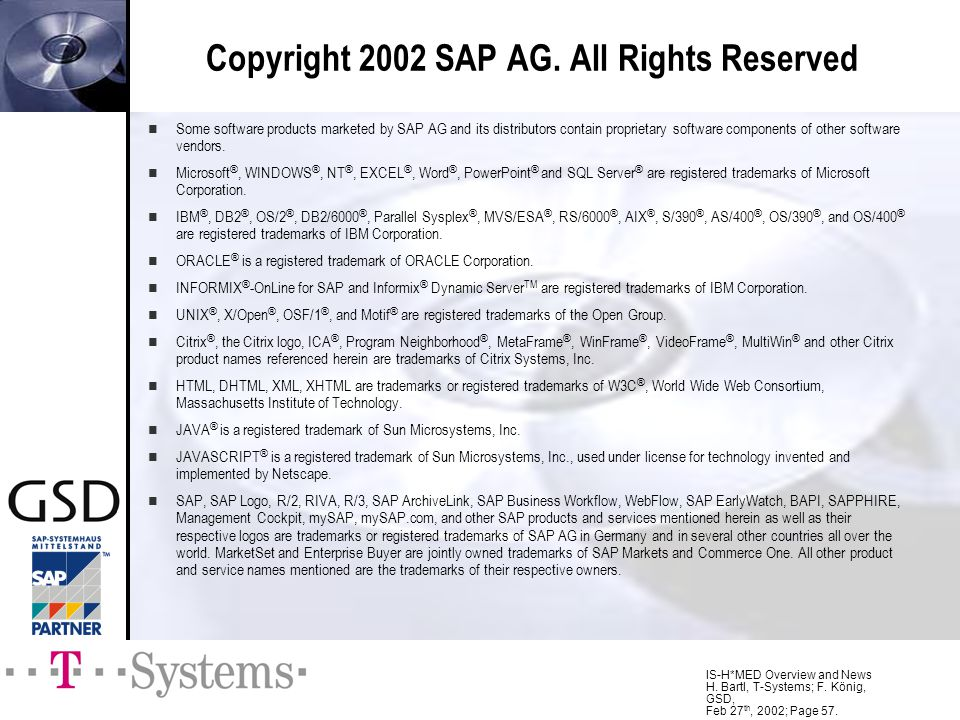 Copyright 2002 SAP AG. All Rights Reserved