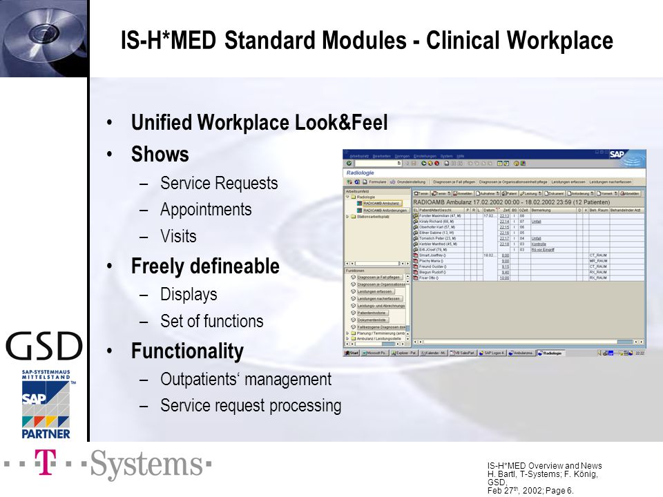 IS-H*MED Standard Modules - Clinical Workplace