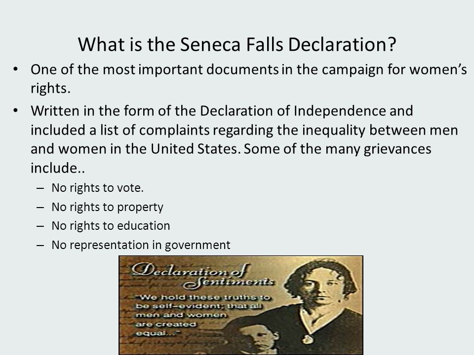 What is the Seneca Falls Declaration