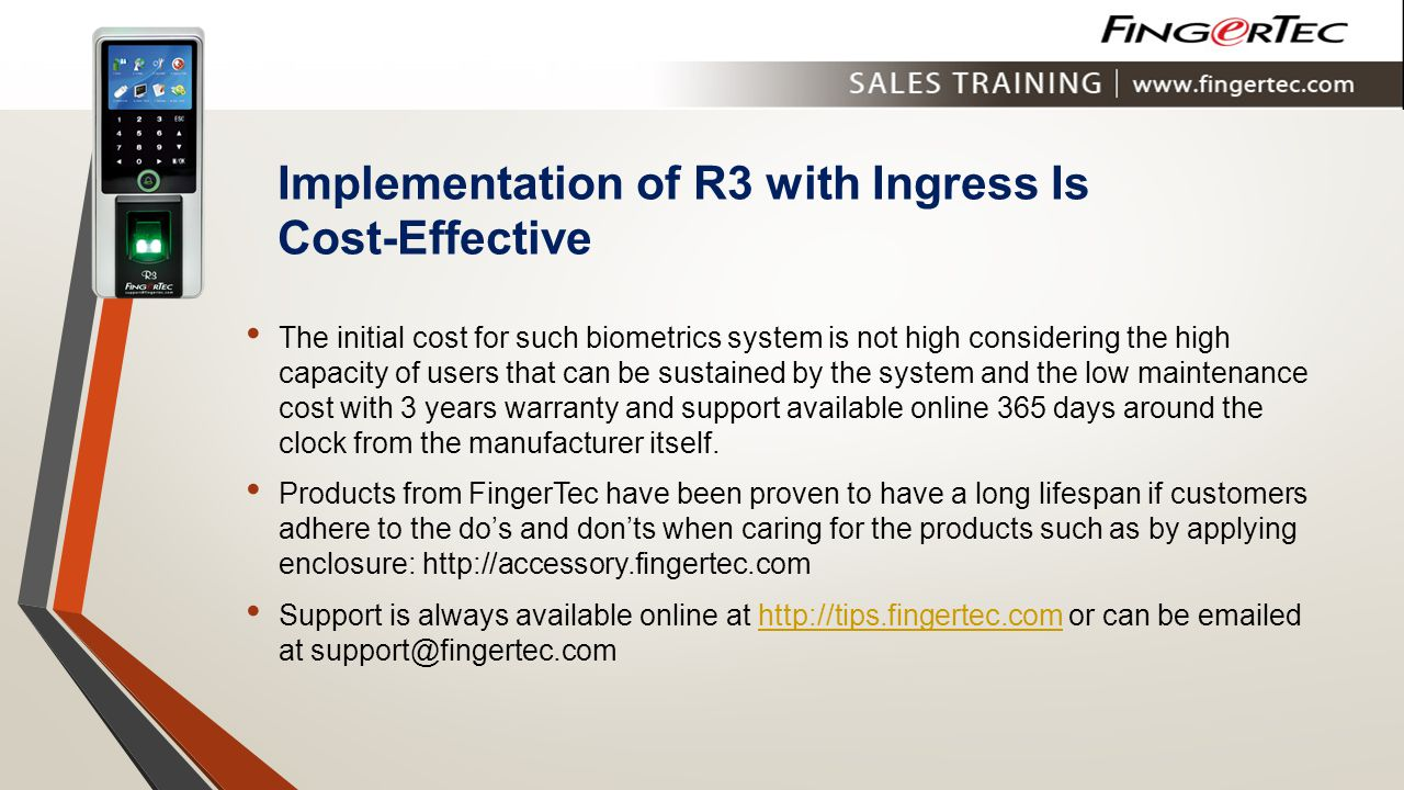 Implementation of R3 with Ingress Is Cost-Effective
