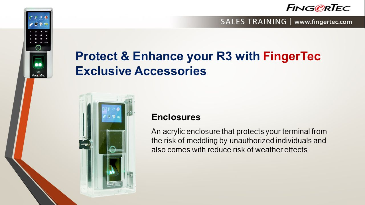 Protect & Enhance your R3 with FingerTec Exclusive Accessories