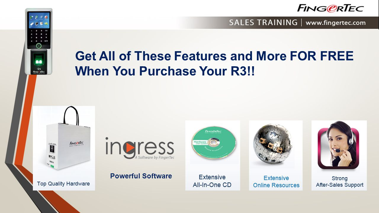 Get All of These Features and More FOR FREE When You Purchase Your R3!!