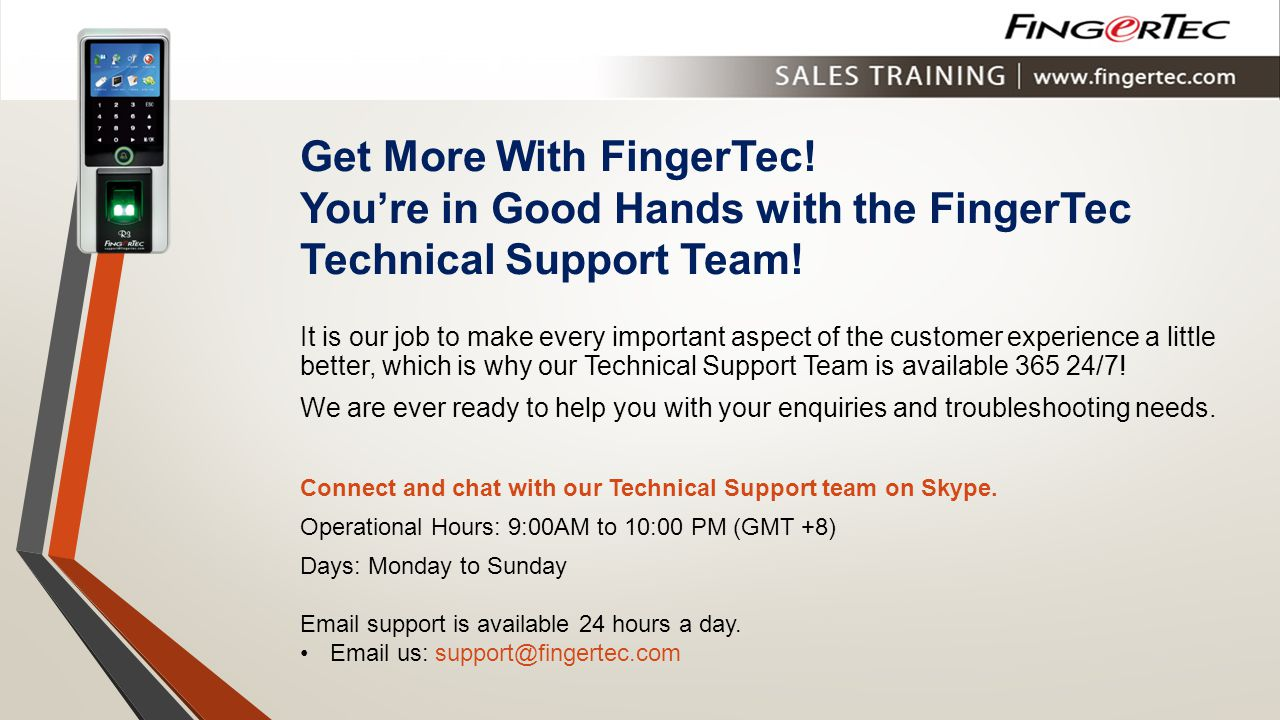 Get More With FingerTec