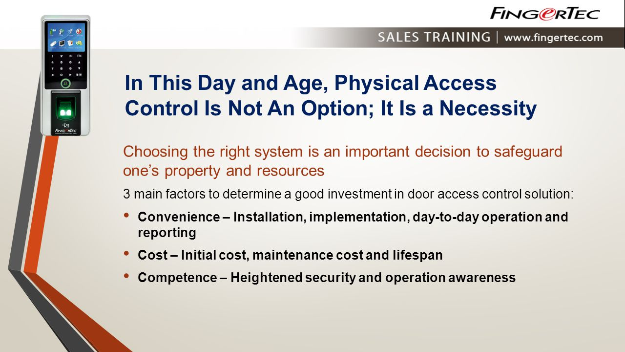 In This Day and Age, Physical Access Control Is Not An Option; It Is a Necessity
