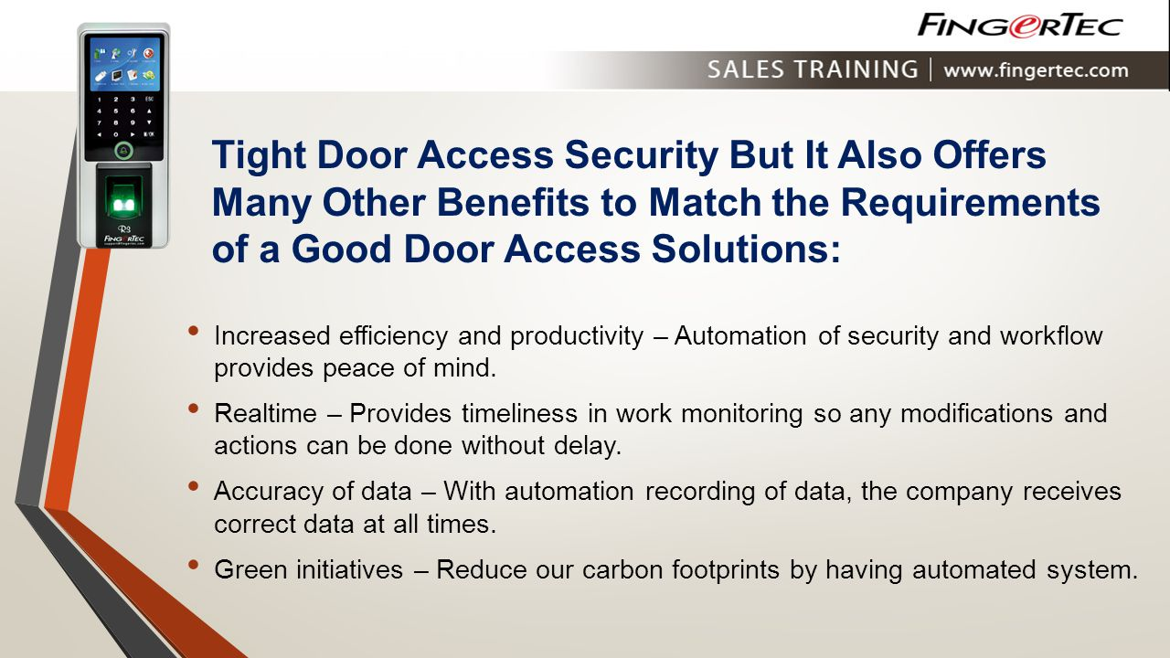 Tight Door Access Security But It Also Offers Many Other Benefits to Match the Requirements of a Good Door Access Solutions: