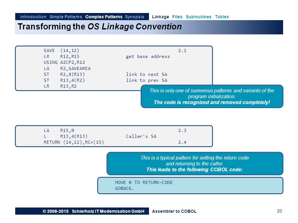 Transforming the OS Linkage Convention