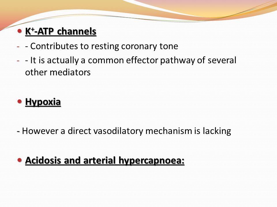 Acidosis and arterial hypercapnoea: