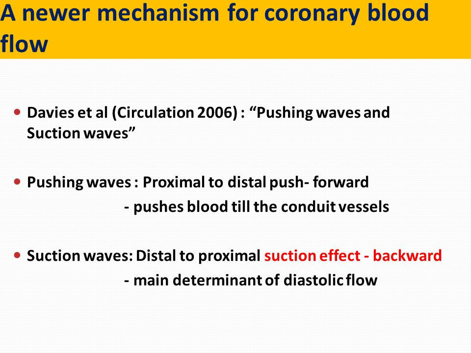 A newer mechanism for coronary blood flow