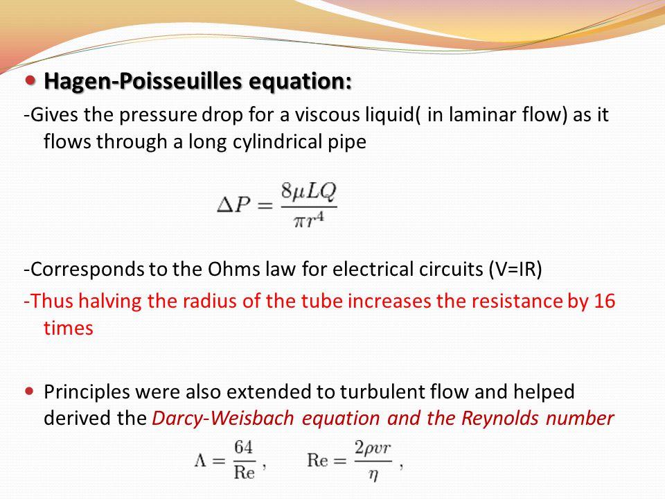 Hagen-Poisseuilles equation: