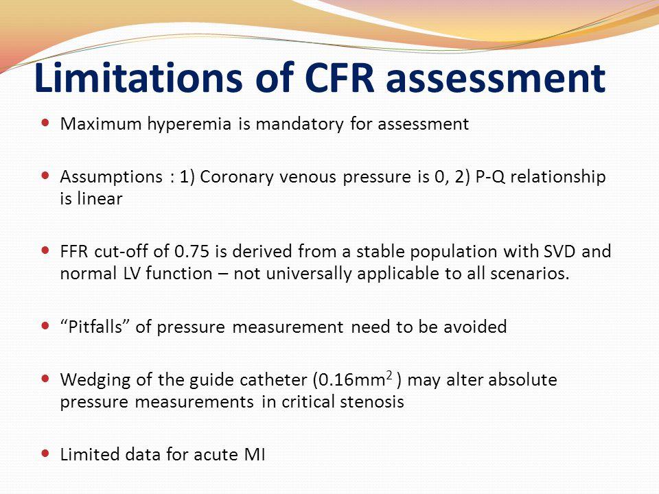 Limitations of CFR assessment
