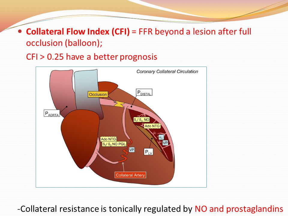 Collateral Flow Index (CFI) = FFR beyond a lesion after full occlusion (balloon);