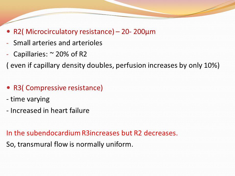 R2( Microcirculatory resistance) – 20- 200µm