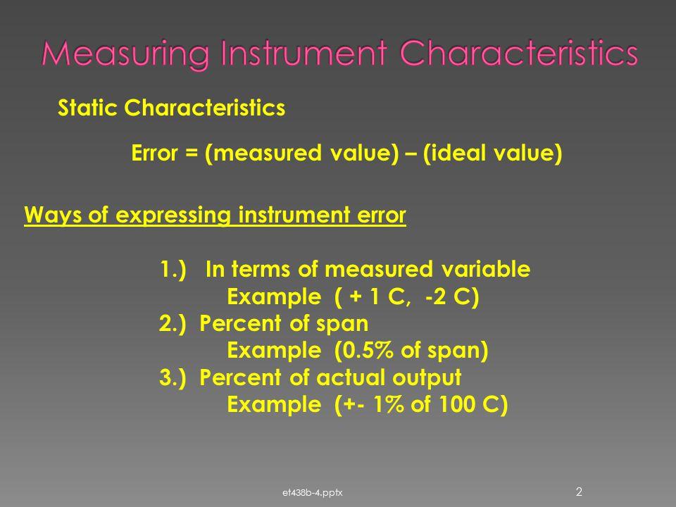 Measuring Instrument Characteristics