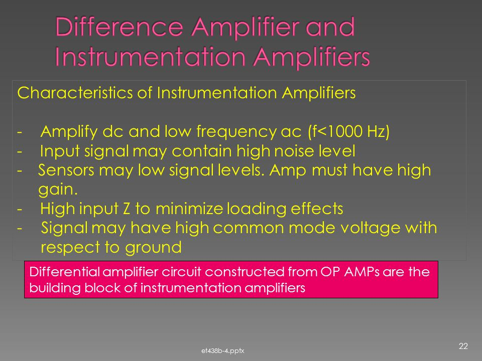 Difference Amplifier and Instrumentation Amplifiers