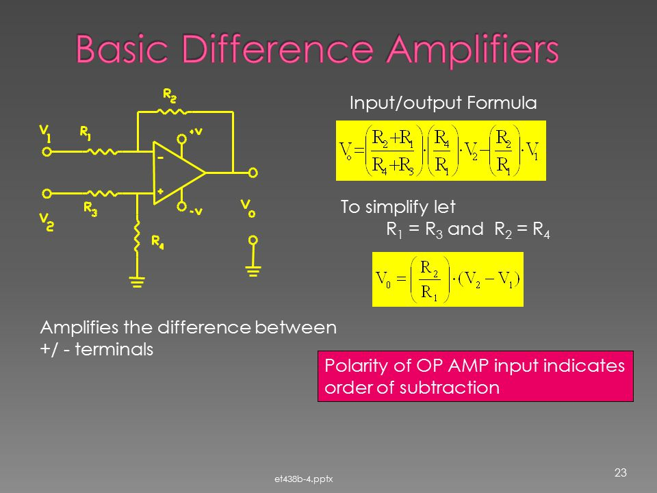 Basic Difference Amplifiers