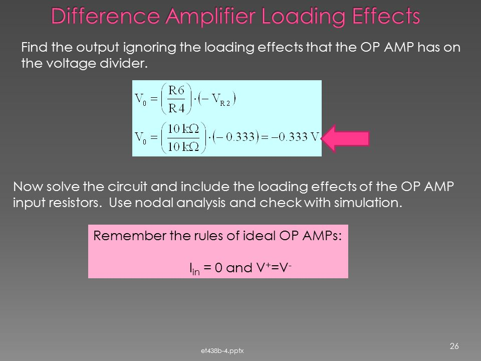 Difference Amplifier Loading Effects