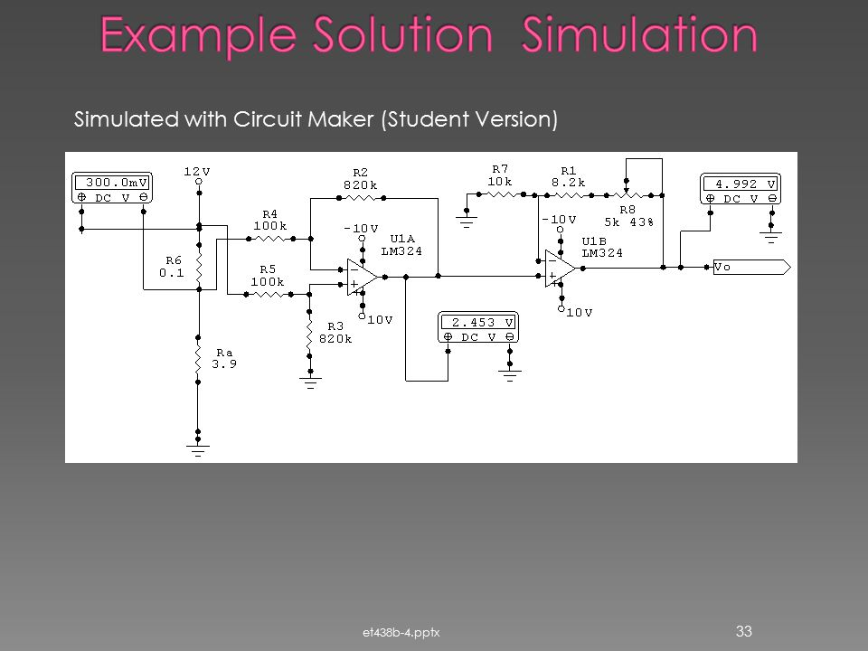Example Solution Simulation