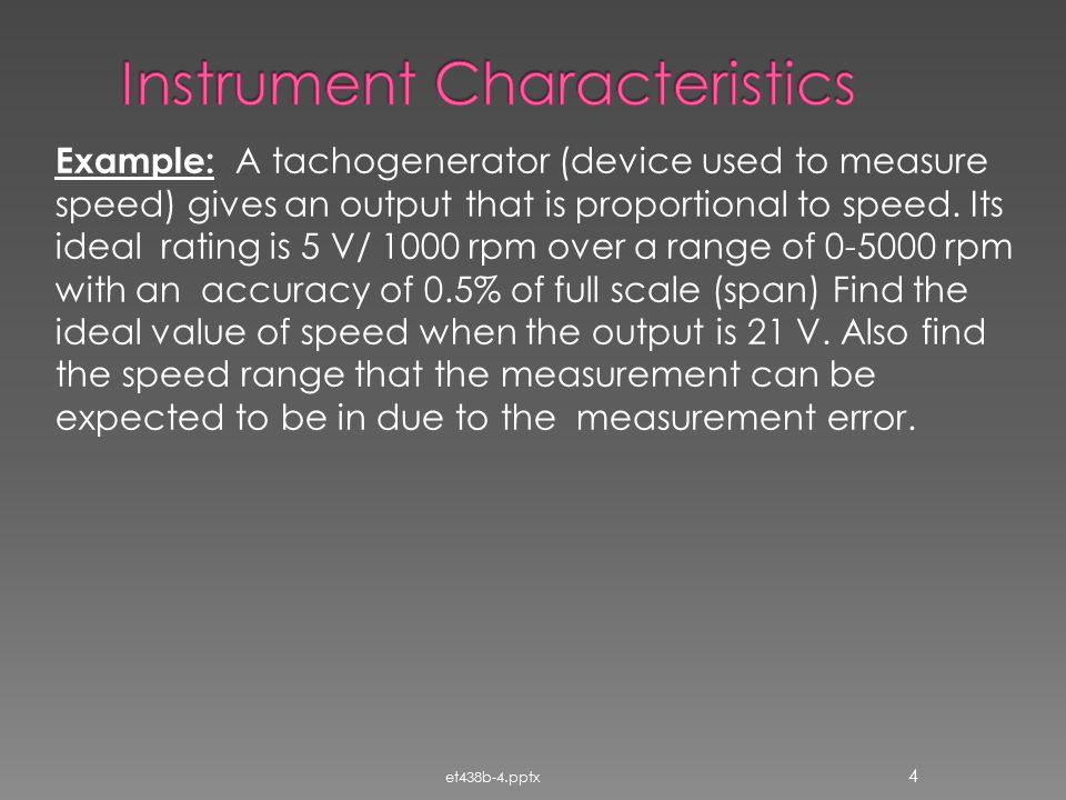 Instrument Characteristics