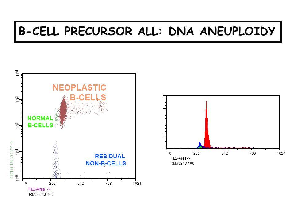 PRECURSOR B-ALL: DNA ANEUPLOIDY B-CELL PRECURSOR ALL: DNA ANEUPLOIDY